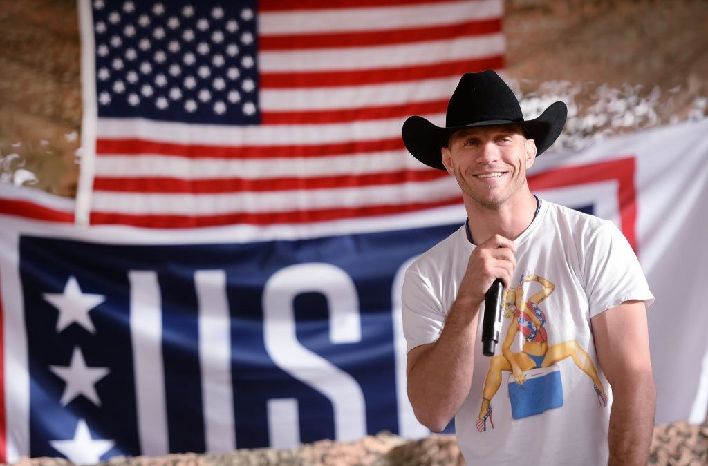 Donald Cerrone With American Flag