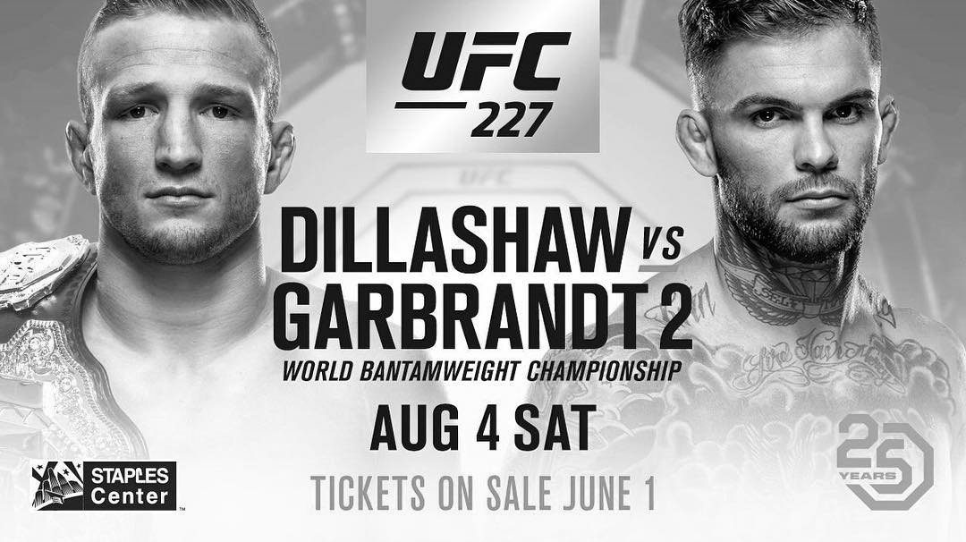 UFC 227 – Garbrandt vs. Dillashaw 2 – Betting Predictions