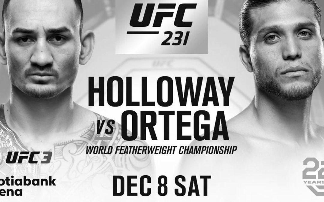 Max Holloway Versus Bryan Ortega