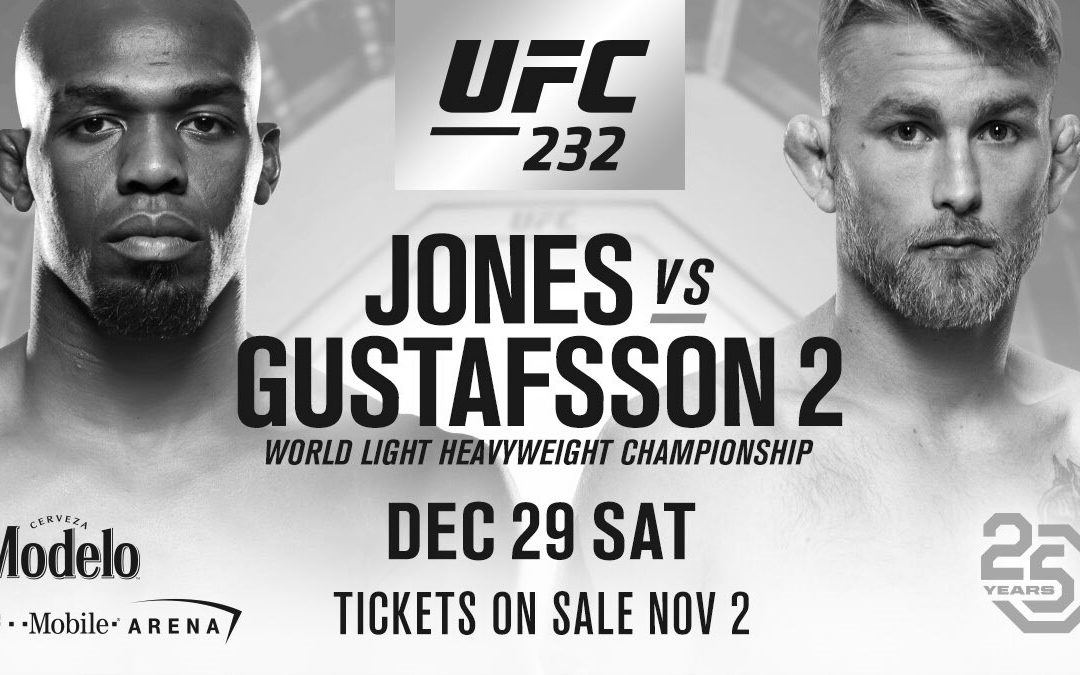 UFC 232 – Jon Jones vs. Alexander Gustafsson 2 – Betting Predictions