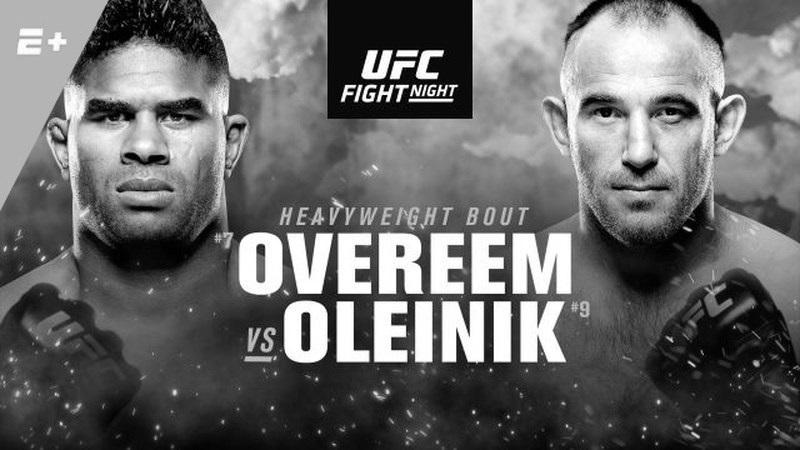 Alistair Overeem Versus Alexey Oleinik Poster
