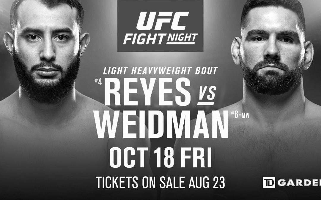 UFC on ESPN 6 – Dominick Reyes vs. Chris Weidman – Betting Predictions