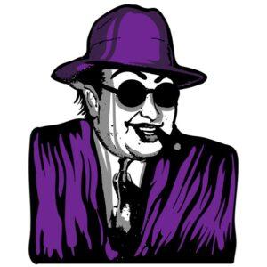 Boss Wearing Purple Suit