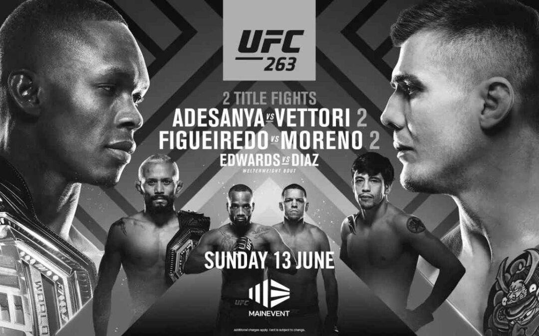 UFC 263 – Israel Adesanya vs. Marvin Vettori – Main Card Betting Predictions