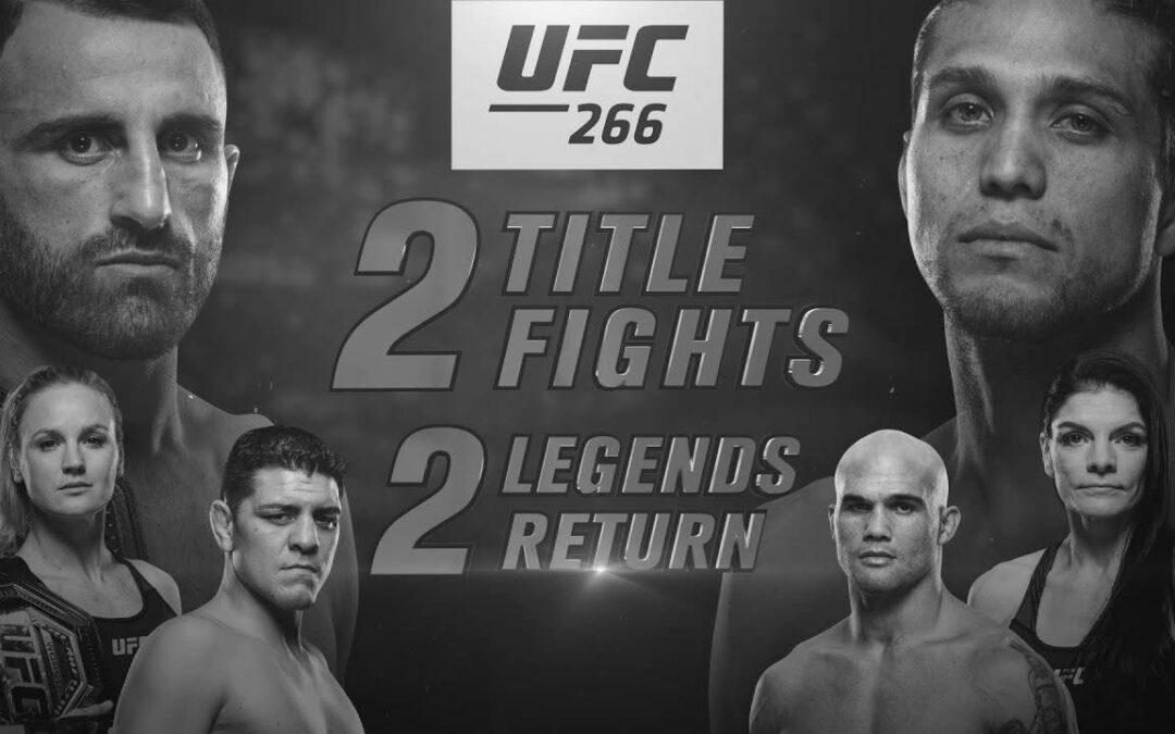UFC 266 – Alexander Volkanovski vs. Brian Ortega – Main Card Betting Predictions